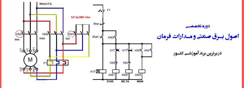 آموزش اصول برق صنعتی و مدارات فرمان