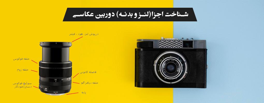 آموزش اجزا، لنز و بدنه دوربین عکاسی
